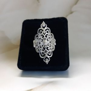 Sterling 925 Filigree Statement Piece Ring